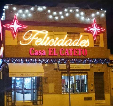 Decoración de Navidad del 2016 del Bar Casa EL CATETO