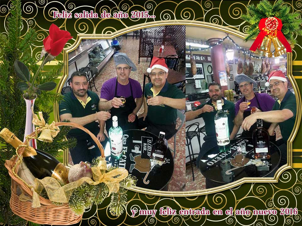 Feliz año nuevo 2016 Bar Casa EL CATETO