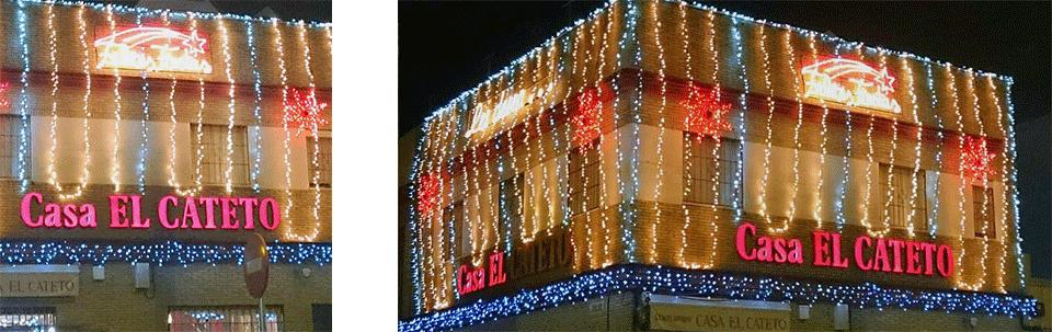 Encendido Luces Navidad 2015  Bar Casa EL CATETO
