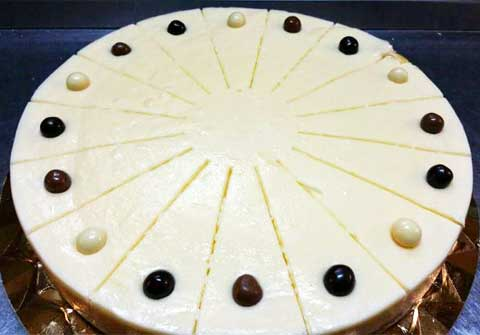 Tarta de chocolate y queso del Bar Casa EL CATETO